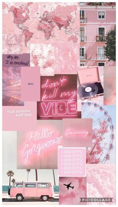 pastel pink aesthetic wallpaper collage