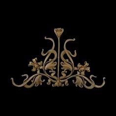 Art Nouveau Flower Onlay, Fireplace Accents