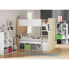 Buy Phoenix Bunk Bed Frame - White and Wood Effect at Argos.co.uk - Your Online…