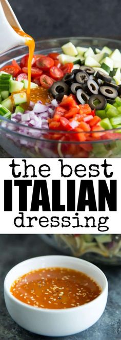 To make the best homemade Italian Dressing, upgrade red wine vinaigrette with lots of zesty flavors and Parmesan cheese! Warning: You may want to drink it. via @culinaryhill