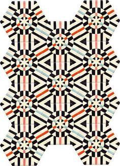 Kaleidoscope PATTERN NERO PELLE PORTACHIAVI COLORATO forme SPECCHIO Perline Nuovo