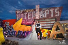 The Neon Museum Elopement Wedding (Amy & Adam) - Las Vegas Event and Wedding Photographer, Neon Museum Wedding Photos, Vegas wedding, Las Vegas Wedding Photographer Las Vegas Wedding Photographers, Las Vegas Weddings, What Is Wedding, Elope Wedding, Elopement Wedding, Neon Museum, Creative Wedding Photography, Museum Wedding, Las Vegas Strip