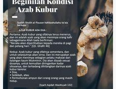 BEGINILAH KONDISI AZAB KUBUR Allah Quotes, Muslim Quotes, Peaceful Heart, My Way, Islam, Instagram