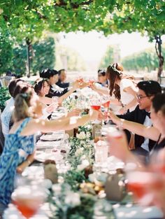 outdoor summer wedding celebration