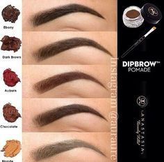 "This stuff is the bomb ""Anastasia Beverly Hills Dipbrow Pomade. I've read in several places that this product is excellent for filling in eyebrows, especially sparse eyebrows. Beauty Make-up, Beauty Hacks, Hair Beauty, Flawless Beauty, Beauty Tips, Iconic Beauty, Black Beauty, Love Makeup, Makeup Tips"