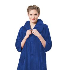 """Damee NYC Long Jacket - """"The Swing Jacket"""" in Royal Blue - 200"""