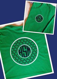 Adult Quatrefoil Circle Monogrammed Shirt on Etsy, $15.00