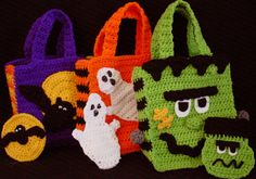Halloween Bags With Money Holders Crochet Pattern-PA996