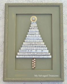 My Salvaged Treasures: Vintage Sheet Music Christmas Tree by elrancho