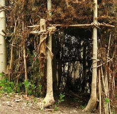 Woodland Shelter Doorway by Dominic's pics, via Flickr