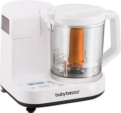 Healthy Homemade Baby Food The Baby Brezza Glass One Step Baby Food Maker brings healthy, homemade baby food to your table in just minutes. Its one-of-a-kind, Best Baby Food Maker, Baby Food Makers, Baby Food Steamer, Baby Bottle Sterilizer, Baby Cooking, Blender Recipes, Homemade Baby Foods, Toddler Meals, Toddler Food
