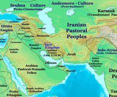 Susa Kingdom, Igehalkids Dynasty 1400 BC - 1210 BC Iran Map