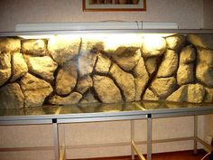 DIY Aquarium Background From Styrofoam Diy Aquarium, Aquarium Terrarium, Aquarium Design, Saltwater Aquarium, Freshwater Aquarium, Aquarium Ideas, Aquarium Driftwood, Reptile Decor, Reptile Room