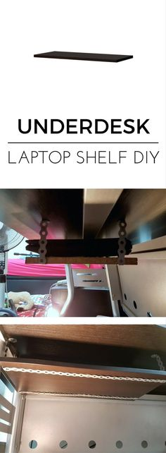 Get the clutter off the table. http://www.ikeahackers.net/2017/07/15-underdesk-laptop-shelf-mount.html
