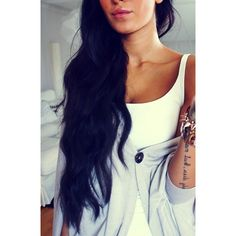 beautiful black hair ❤ liked on Polyvore featuring hair
