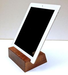 Minimal+Walnut+Wood+iPad+Stand+by+Sean+Alan+Designs+on+Scoutmob+Shoppe