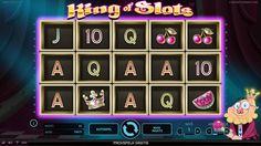 King of Slots - King of Slots är en spelautomat uppbyggd av 5 separata hjul med 3 rader och 25 fasta vinstlinjer. Både insatsnivå och myntvärde per spelomgång är justerbara, nivå 1-10 och myntvärde från €0,01 upp till €1,00.