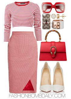 Spring-2017-Style-Inspiration-What-to-Wear-to-a-Day-Event-Dolce-Gabbana-Striped-Crop-Top-Altuzarra-Wilcox-stretch-cotton-pencil-skirt-Christian-Louboutin-So-Kate-Pump-Gucci-Dionysus-Top-Handle-Bag.png 438×609 pixels