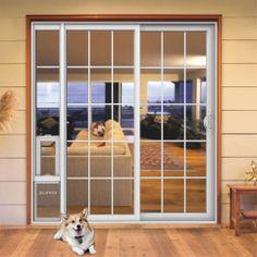 Love the doggie door in the screen door for security and this open home improvement why the patio dog door is the best dog door patio dog sliding glass doorsliding doorsglass planetlyrics Images
