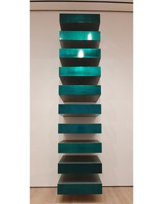 Untitled, 1967, Lacquer on galvanized iron, 12 unità 22.8x101.6x78.7 cm #DonaldJudd #MoMA #MyMoMANYC #NYC #ContemporaryArt pic by #AntonioAddamiano #DepArtGallery Moma Collection, Nyc, Museums, New York City