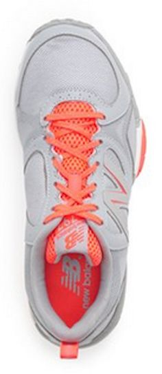 Grey/coral New Balance training shoes http://rstyle.me/n/pq9d5nyg6