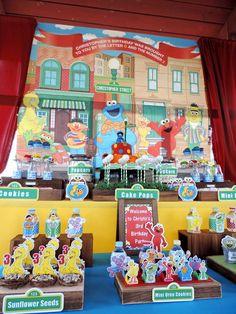 Sesame Street Birthday Party Ideas | Photo 9 of 67 | Catch My Party