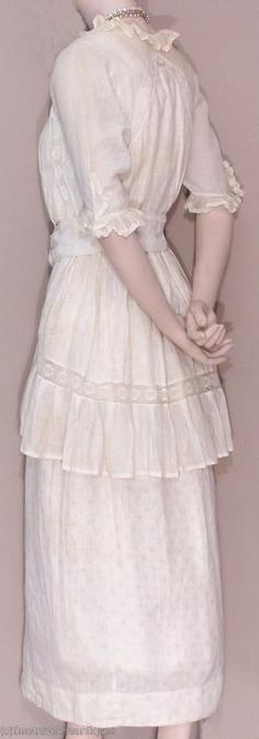1914 extant gown- labeled as hobble skirt on ebay