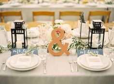 """Sweetheart Table for Bride and Groom - I like the """""""" on the table"""