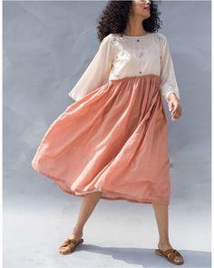 Two Tone Peach Day Dress