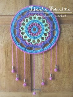 Crochet Mandala Pattern, Doily Patterns, Crochet Doilies, Crochet Flowers, Crochet Patterns, Crochet Home Decor, Crochet Crafts, Crochet Projects, Dreamcatchers