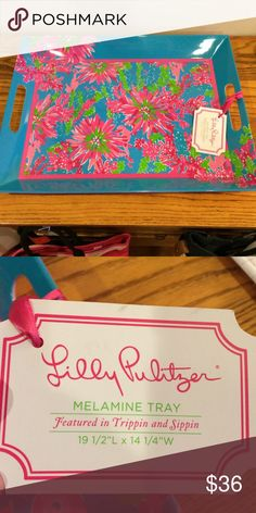Lilly Pulitzer melamine Tray Lilly Pulitzer melamine Tray .  NWT tray.  Tripping and sippin. Lilly Pulitzer Accessories