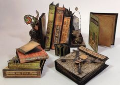 annes papercreations: How to make the tiny books for the Rare Oddities configuration box