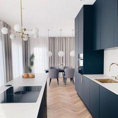 Kitchen Room Design, Modern Kitchen Design, Home Decor Kitchen, Interior Design Kitchen, Interior Plants, Black Kitchens, Home Kitchens, Home Decor Quotes, Minimalist Home Interior