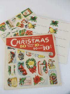 Vintage Christmas Tags and Seals Package  by UrbanRenewalDesigns, $4.99