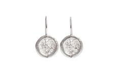 Round Textured Small Drop Earrings - product images  of