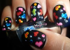 Colorful Hearts Nails! ❤ by madjennsy