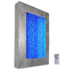30 Bubble Wall Hanging Aquarium LED Lighting Indoor by This could be one of any color depending on the room. I am considering for the office in place of the metal painting, but could also go in the living room Aquarium Led, Led Aquarium Lighting, Tabletop, Bubble Wall, Fountain Design, Sensory Rooms, Indoor Fountain, Table Vintage, Water Walls