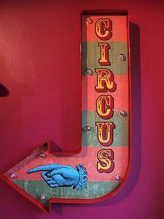 Circus Arrow Illuminated Carnival Fair Sign Light Vintage Wedding Gift LED for sale Scary Circus, Halloween Circus, Circus Art, Circus Theme, Halloween Ideas, Circus Background, Circus Aesthetic, Circo Vintage, Vintage Wedding Gifts