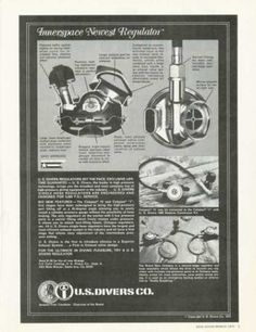 US Divers Innerspace Regulator Ad, Dive History Scuba Shop, Diving Equipment, Deep Sea, Scuba Diving, Underwater, The Past, Baseball Cards, History, Water Photography