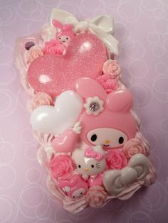 My Melody Girly Stuff Kawaii Decoden Deco Case for by Lucifurious, $42.00