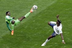 Nigeria valiently defended their half of the pitch, but things stopped going their way after about minute 80. France on to the quarterfinals after winning 2-0.