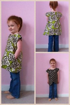 The Lucy Tunic by Shwin and Shwin.  PDF pattern with tutorial for this cute toddler top.  It has pockets and is reversible!
