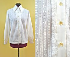 NOS 1970s Vintage Lee Mar Pageant White Lace by TabbysVintageShop, $12.00