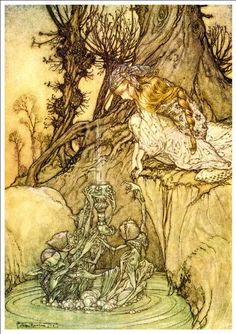 Beautiful A4 Glossy Fairies Print - 'The Magic Cup' - Arthur Rackham 1913 by Arthur Rackham http://www.amazon.co.uk/dp/B00AYR0MPM/ref=cm_sw_r_pi_dp_YlFsvb1KA76EN