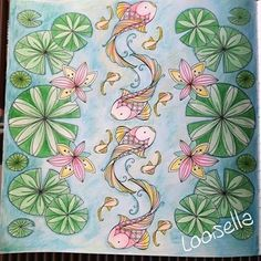 Fishes In Joyous Blooms To Color Coloring BooksColouringColor