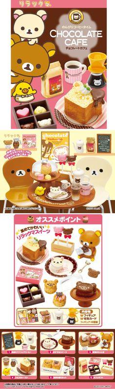 """Rilakkuma """"Chocolate Cafe""""  リラックマ「チョコレートカフェ」"""