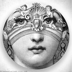 angel, original Lina Cavalieri design on dinning plate