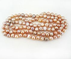 Long Strand Freshwater Pink Pearls Natural Rose 10 mm Loose Beads #ebay #pearls #elegantkb