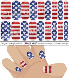 4th of July Patriotic Jamberry NAS Nail Wrap Design. Why bother with nail art designs and polish when Jamberry nail wraps are so much easier? Get the pretty nails you've always wanted for a fraction of the cost of a salon visit. #iheartnailwraps #nailart #naildesigns #jamberry #jamberrynas #jamicure #nails #4thofjulynails #patrioticnails #flagnails
