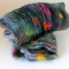 URSULA  Drum Carded Wool Fiber Batt 2 ozs by SpunRightRound, $14.00